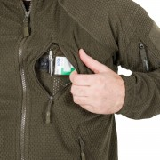 Alpha Tactical Jacket - Grid Fleece Foliage Green