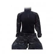 Uniforme Completo DELUXE Combat MULTICAM NEGRO con rodilleras